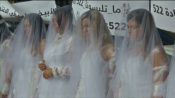 Women in Lebanon are protesting for the removal of a law that allows rapists to escape punishment for their crimes as long as they marry the survivor.