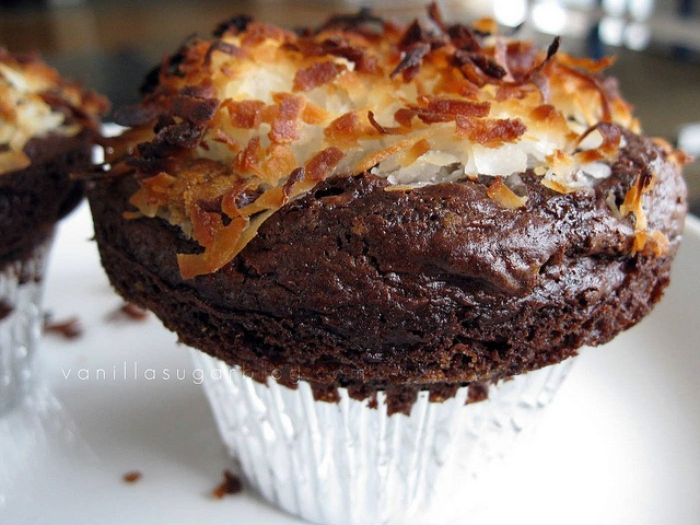 chocolate-coconut muffins | Nothing but Chocolate | Pinterest