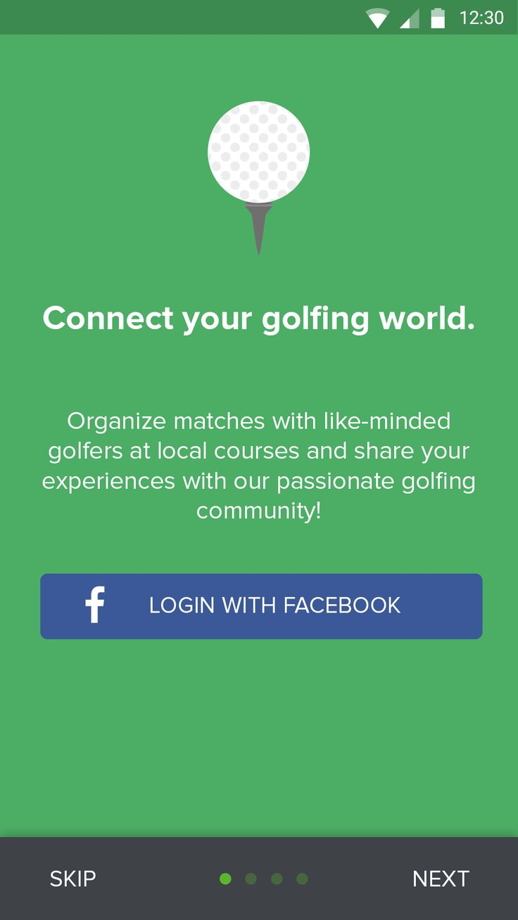 Golf app – MaterialUp