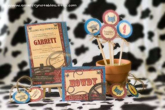 Cowboy Rodeo Party Custom Printable Set with by smallfrynotables, $28.00