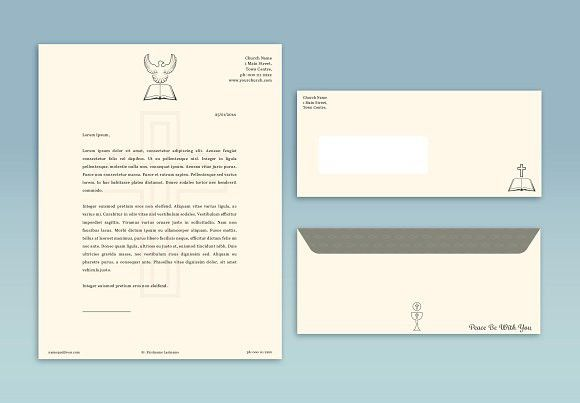 Church Letterhead Abstract Advertisement  Bible Christian Info