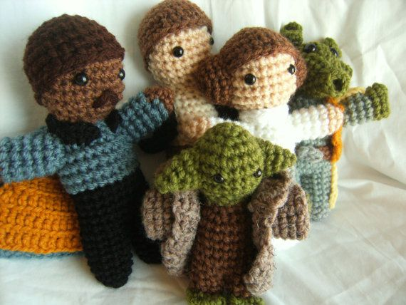 Star Wars Dolls  Pick any 2 by fortheloveofhandknit on Etsy, $35.00