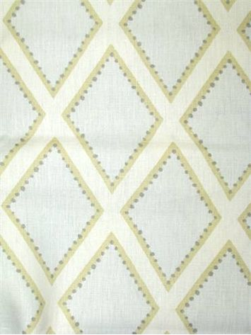 """Brookhaven Opal Item #: 0166986 Price: $34.95 per yard Sarah Richardson Design Fabric by Kravet. 100% linen geometric print. Perfect for upholstery, pillow covers, top of the bed or drapery panels. V 9"""" - H 5.5"""" repeat, 15,000 double rubs. 54"""" wide. Made in U.S.A."""