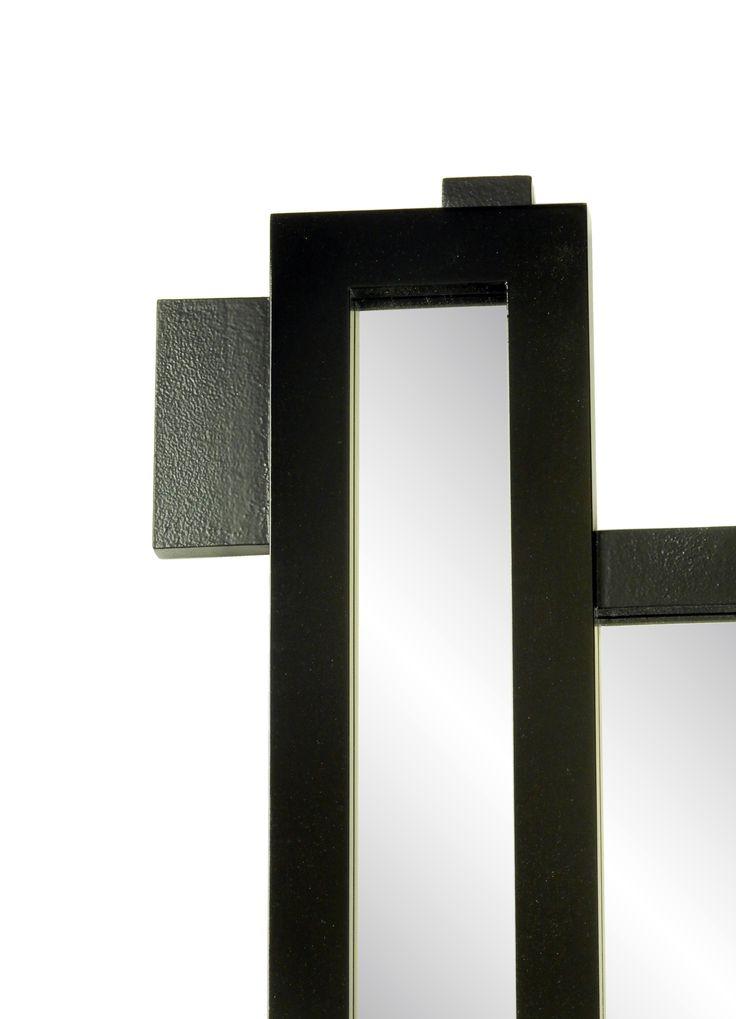 Modern mirror detailing.