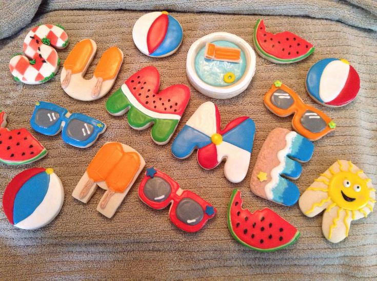 Summer cookies for my summer students | Cookie Connection