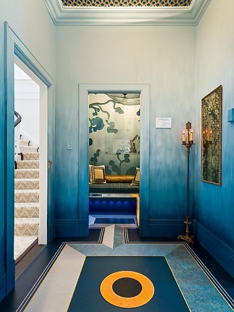 ombre walls, deco floor