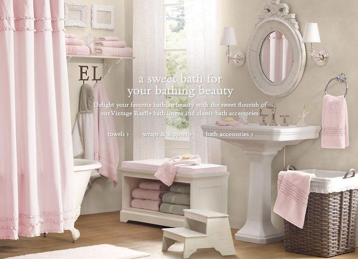 Pink and grey bathroom I hate our master bath but this might help it a bit. 17 Best images about Pink Grey Vintage bathrooms on Pinterest
