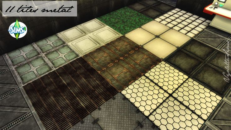 11 tiles metal Spaceship styles. Recolors. TS4...   Inside Mandarina's Sim World