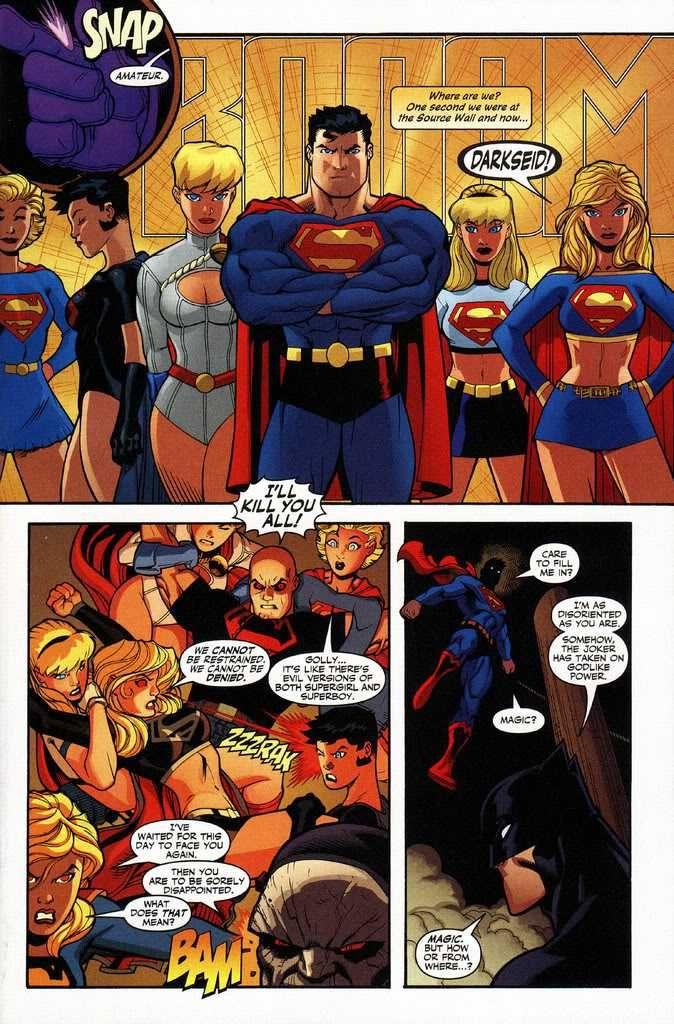 Superboy vs Supergirl | powergirl,supergirl and superboy vs darkseid