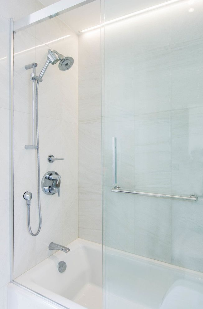 Splashy Kohler Shower Doors In Bathroom Contemporary With Bathtub Soap  Niche Next To Kohler Shower Fixture