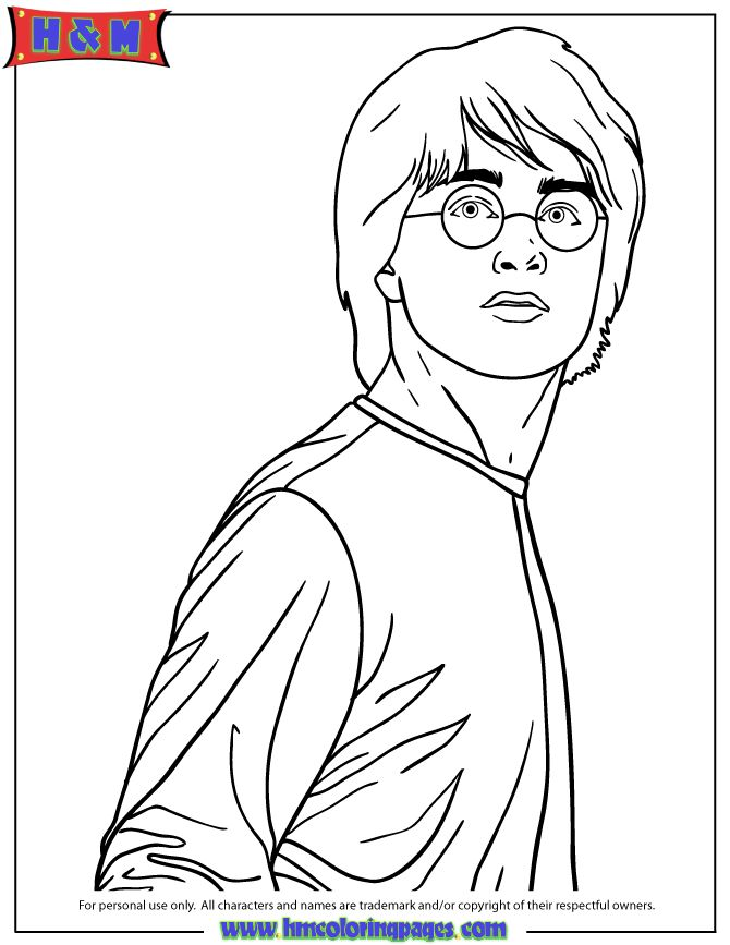 ron weasley coloring pages - photo#24