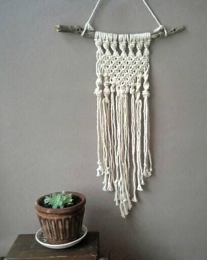 Check out this item in my Etsy shop https://www.etsy.com/au/listing/554917732/small-macrame-wall-hanging