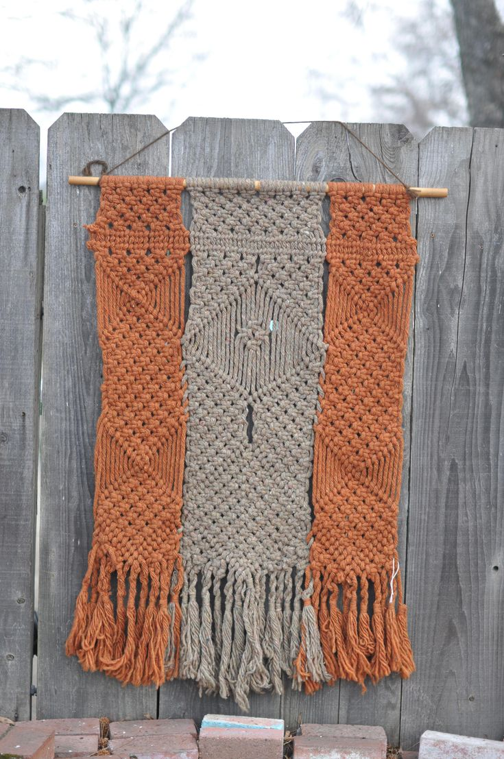 Vintage 1970s Large Macrame Wall Hanging Curtain by drowsySwords on Etsy