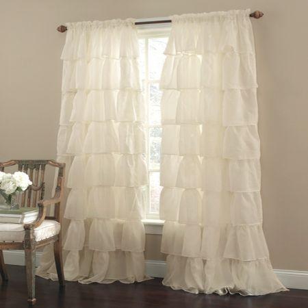 Beautiful RUFFLED CURTAINS @ BED BATH U0026 BEYOND | DECOR | Pinterest | Ruffled Curtains  And Bath