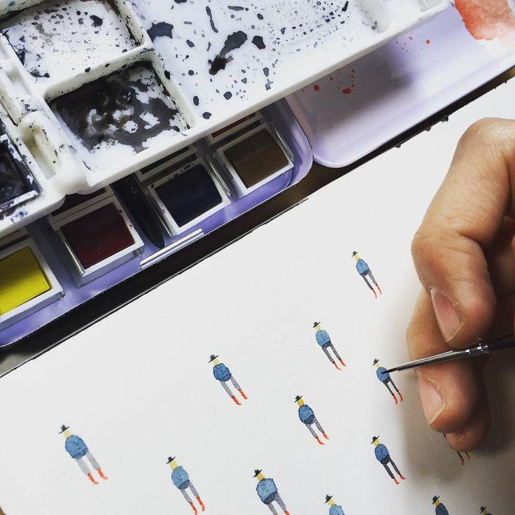 Los mini dibujos del diseñador e ilustrador chileno Matías Prado (@matiasprado)