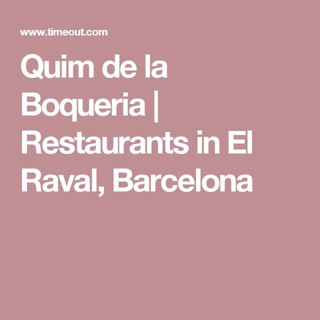 Quim de la Boqueria | Restaurants in El Raval, Barcelona