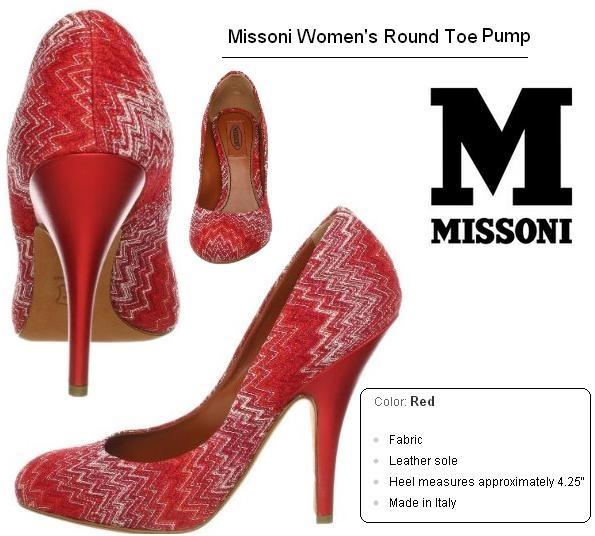 Missoni Women's Round Toe Pump http://www.amazon.com/dp/B00AK9G49C/?tag=pinterest0e50-20