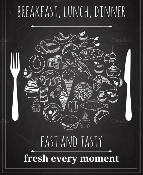 Vector Vintage Food Poster by Microvector on @creativemarket