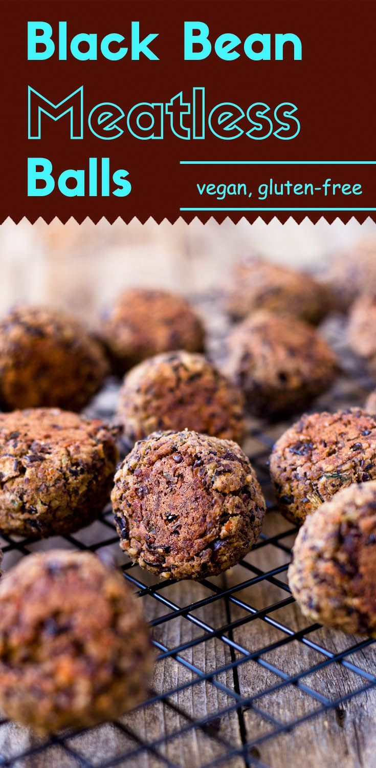 Black bean meatless balls are here. They are packed with complex flavors and taste fantastic with Italian spaghetti sauce, meatball sandwich, or even more.