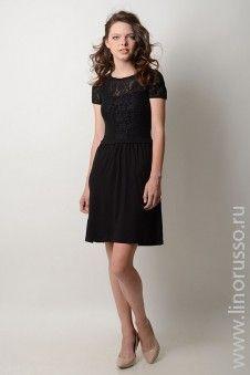 #autumn2015 #winter2015 #LinoRusso #dress #chic #aw15 #lace #платье #blackdress #кружево