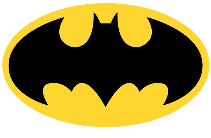 When I was kid, I loved watching Batman:the animated series. It was dark, action packed, with likable characters.When I see this I know it be the Bat symbol that I grew up with. It's a daring target sign. The yellow oval is brighter thanks to the dark bat symbol in front. The bat isn't out right scary due to the lack of detail but the yellow oval makes the bat stand out fiercer. Together, these elements grab your eyes as they often due peeking from beneath the batman's cowl.
