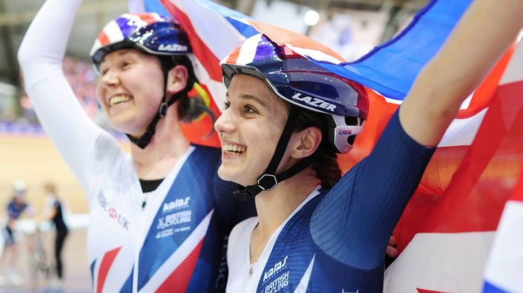 November 12 2017 - Katie Aarchibald and Elinor Barker triumph in the women's madison as British Cycling team claimed two gold medals at Track World Cup in Manchester