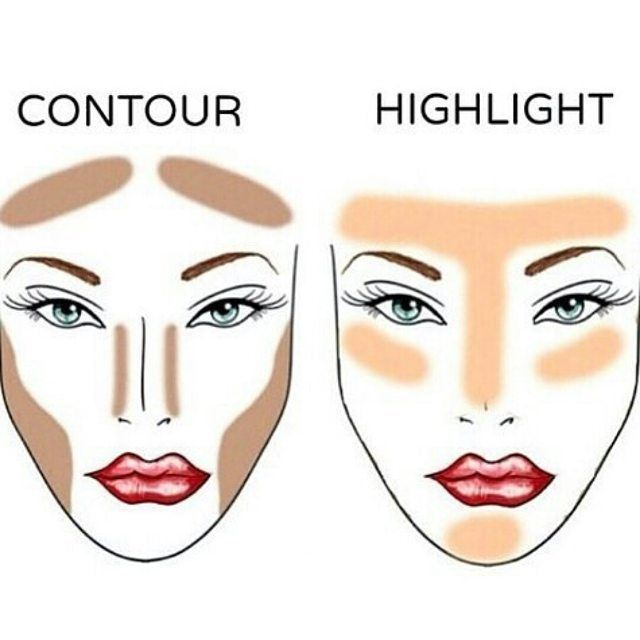 The difference between contour and highlight is very crucial. Contouring is where you use makeup to shape and outline your facial structure and facial features. Highlighting is where you lighten your face to emphasize features like your eyes or cheekbones. That's why it's important to know where you're applying your makeup. Good luck!