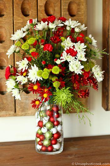DIY Custom Holiday Floral Arrangement