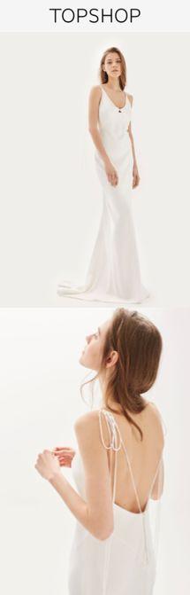Robe de mariée à bretelles - Top Shop