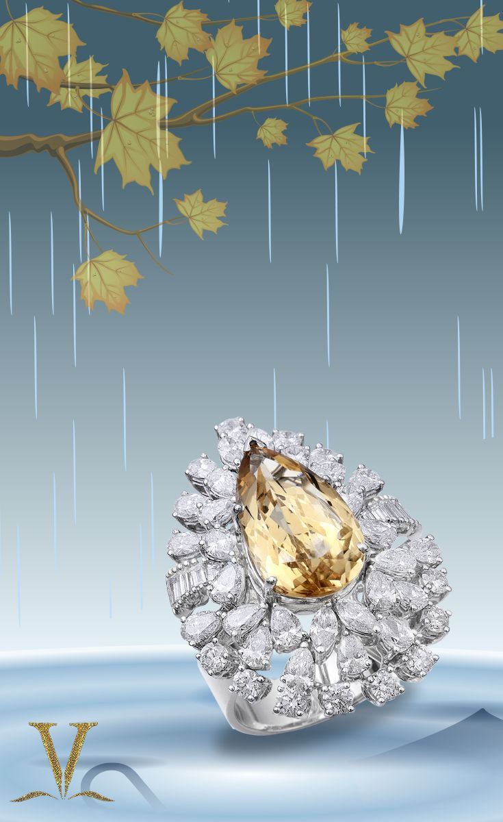Shine like the sun with this beautiful yellow stone, in this rainy weather.