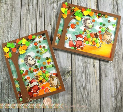Lawn Fawn Jump For Joy   Shaker Cards   Clean Color Real Brush Markers