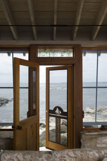 traditional porch by Knickerbocker GroupRustic Porches, The Doors, Beach House, The Ocean, Front Doors, Portland Maine, Traditional Porches, Screens Doors, Screen Doors