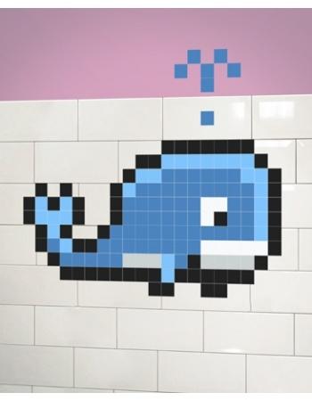 pixel art baleine