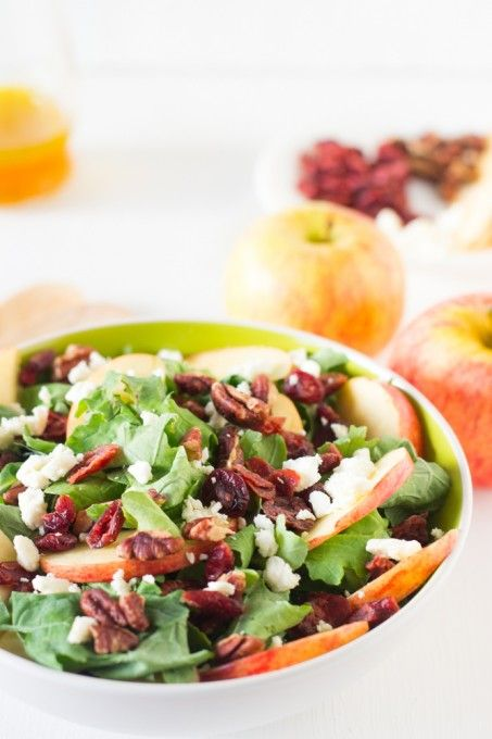 Apple Pecan and Feta Salad with Honey Apple Dressing | Recipe