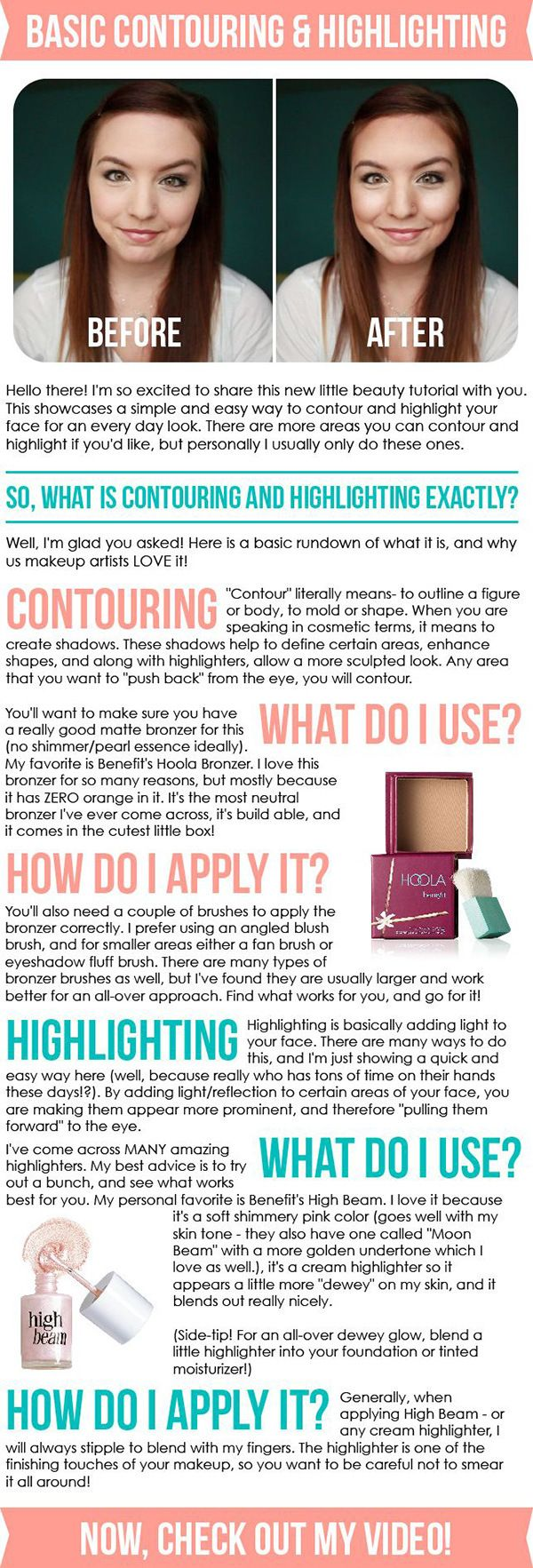highlighting and contouring tips | 20 Highlighting and Contouring Hacks, Tips and Tricks That Will Change Your Life http://www.jexshop.com/