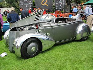 Aerosport Roadster, started out as a '36 Ford Roadster. Made out of aluminum, vision of a car with aircraft flavor to it.: Tv Show