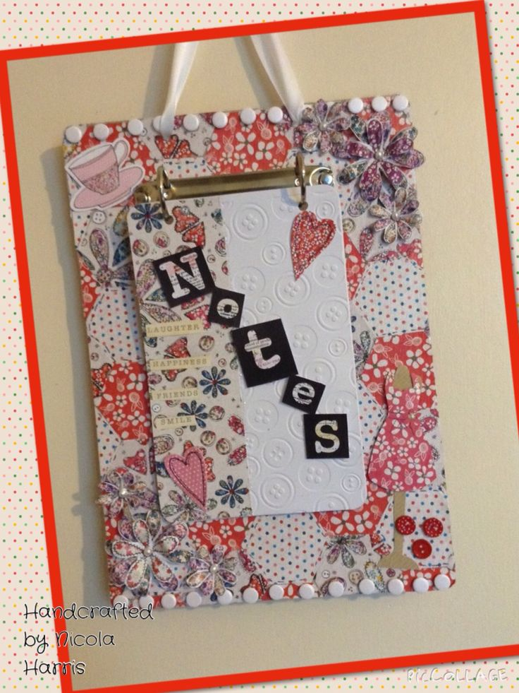 A noteboard made with Craftwork Cards Fab Fabrics.