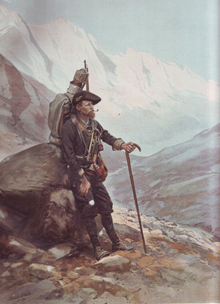French Army 1900 Chasseur Alpin by Édouard Detaille