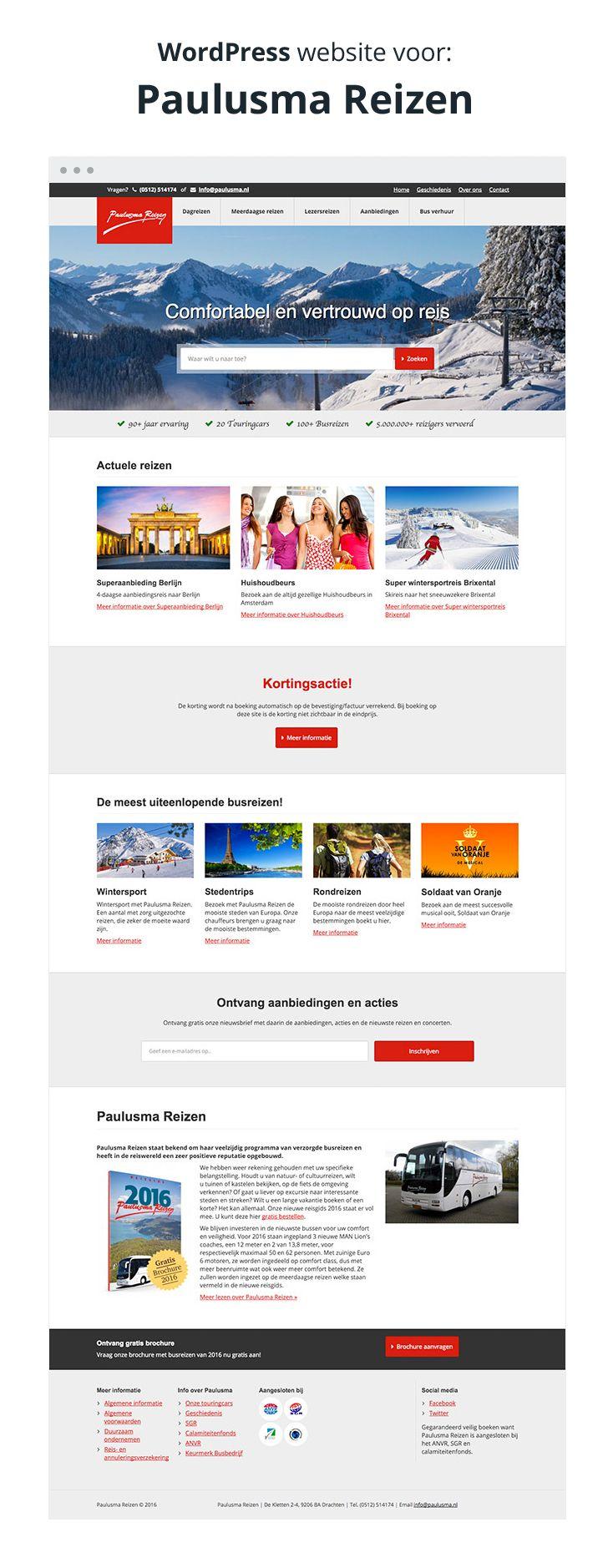 WordPress website voor Paulusma Reizen
