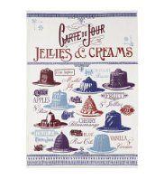 Carte Du Jour Jellies & Creams Tea Towel