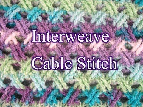 Interweave Cable Stitch - Crochet Stitch Tutorial - YouTube