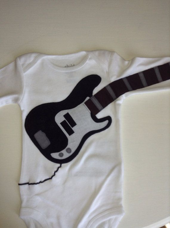 Delightfully Fun Bass Outfit Modeled after the 'Fender Squier Bass'