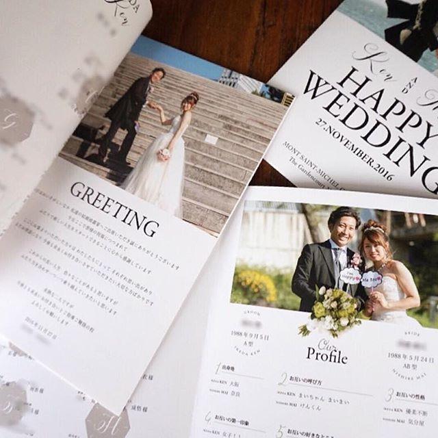 表紙を開けると♥greeting プロフィールのクラッチブーケがお気に入りです💐 こちらは3つ折り長方形型☆*。 お問い合わせはこちらまでお願い致します♪ ⌧tomoe.happybridal@gmail.com #wedding#プレ花嫁#ウェディング#披露宴準備#結婚式準備#DIY#全国発送#アンティーク#ウェルカムボード#オーダーメイド#レトロモダン#プロフィールブック#招待状#席札#グランジ加工#すれ加工#レトロデザイン#両親贈呈品#ウェディング小物#グラフィックデザイナー#席次表#メニュー表#リーフ#フラワー#お花#プチギフト#ヴィンテージ#くるくる席次表