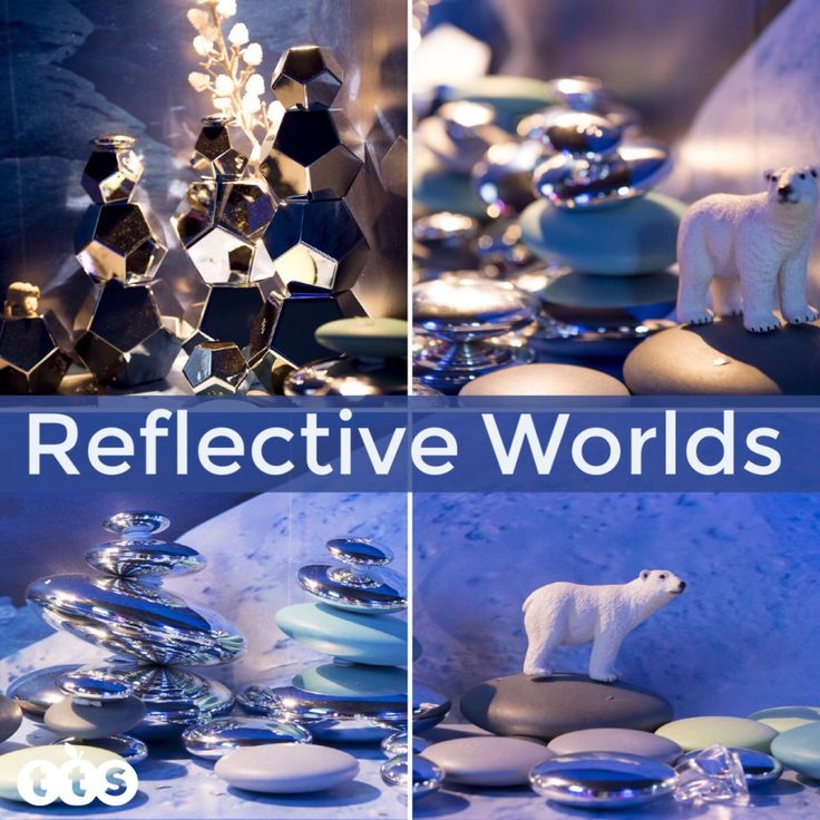 Reflective worlds in a tuff spot. Children are fascinated by mirrors and their reflections. Try a plastic mirror insert in the bottom of your tray – could it be a magical lake? There are many resources available to complement your reflective scene – you could try Mirror Pebbles, Metallic Boulder Blocks and Jewels.