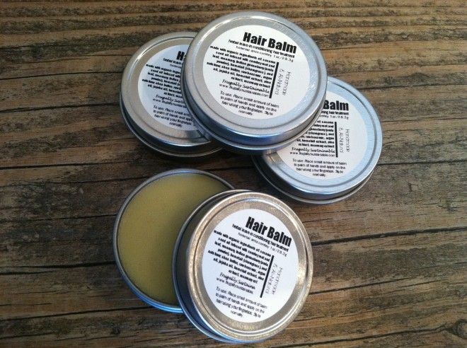 how to make a leave-in conditioner herbal hair balm by Frugally Sustainable