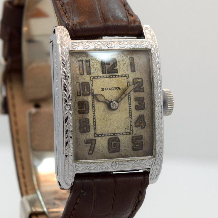 1930 S Bulova 14k White Gold Filled Watch Wrist Watches