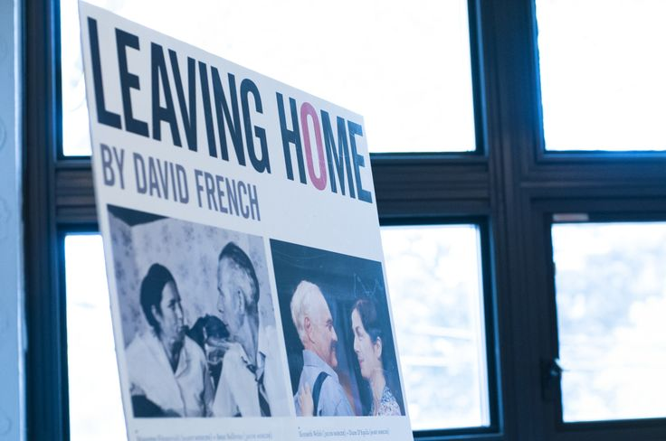 Photo of poster made by Soulpepper with photos from both the Tarragon and Soulpepper productions of Leaving Home. Photo by Diana Renelli.