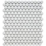 Matte white Penny Rounds - backsplash?: Pennies Tile, 11 1 2, Floors, Porcelain Mosaics, Wall Tile, Bathroom, Mosaics Tile, White Porcelain, Matte White