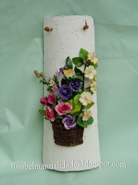 Tejas decoradas con pasta de porcelana