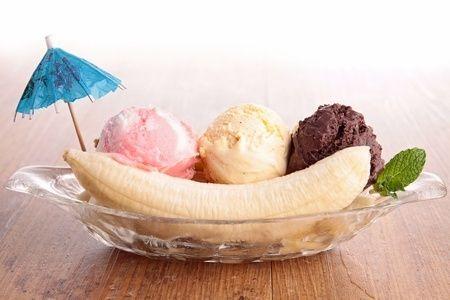 Banánfagyi különböző ízesítéssel, mindenféle ízfokozók nélkül